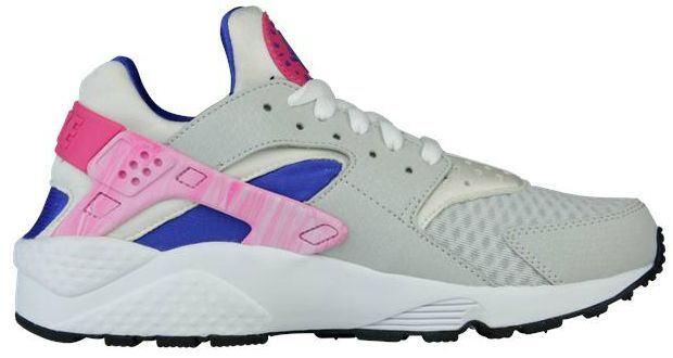2014 Women/Junior Nike Air Huarache Light Grey/Pink Foil/Game Royal All Sizes