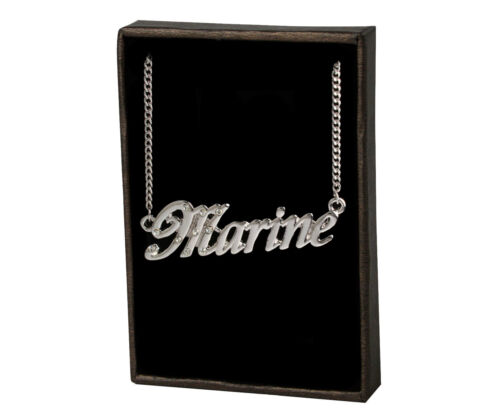 Name Necklace Marine –18K Gold PlatedWedding Designer Girlfriend Pendant