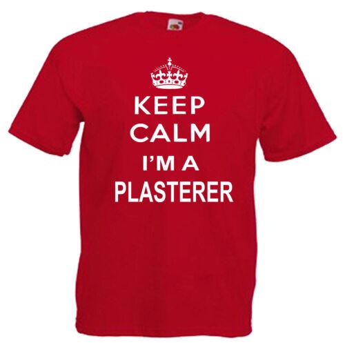 Keep Calm Plasterer Plaster Adults Mens T Shirt 12 Colours Size S 3XL