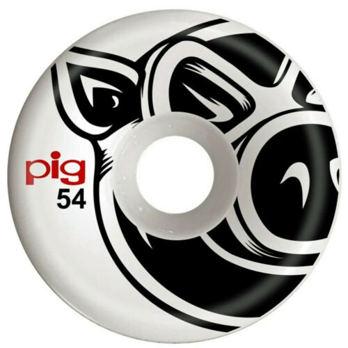 PIG-WHEELS-Pig-Head-C-Line-Natural-54mm-101a-WHITE-NEW-amp-SEALED-Set-of-4