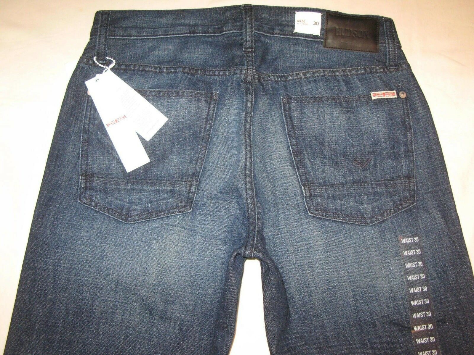 Hudson Mens Wilde Jeans 5 Pkt Relaxed Straight Dark Sz 30 X 34 NEW