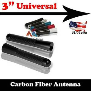 JDM-Style-Black-3-034-in-76mm-Carbon-Fiber-Screw-Type-Short-Antenna-Vehicle-Car-a3