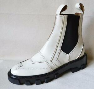 online retailer e8706 b0eee Details zu Balenciaga White Leather Chelsea Boot Size 37 - US Size 7 NEW IN  BOX