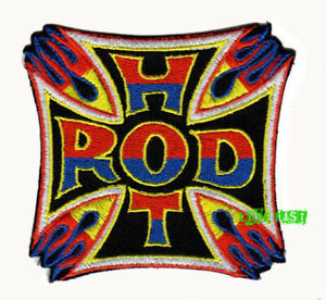 HOT-ROD-PATCH-EMBROIDERED-iron-cross-hot-rodder-vintage-drag-racing-jacket-suit