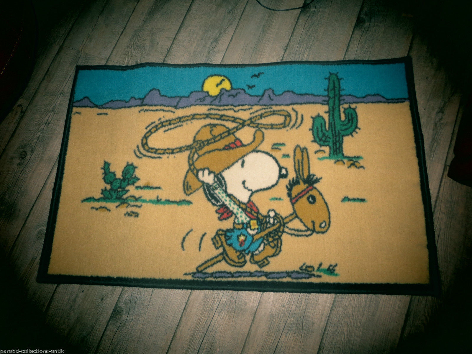 Snoopy-Rare Teppich von Jahre 60-Bel Zustand & Farben intaktes-Etikett aufweist