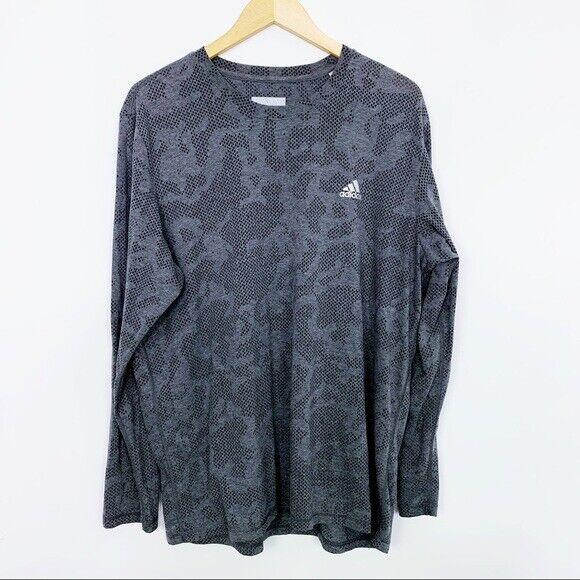 Adidas Shirt Mens XL Aeroknit Climacool Long Sleeve Athletic Gym