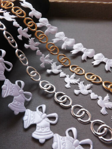 Nuptiale crafts trimm RUBAN APPLIQUE SCRAPBOOKING Invitations Mariage Fleurs