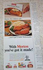 1967 vintage ad - Morton Frozen Foods fried chicken TV dinner PRINT ADVERT