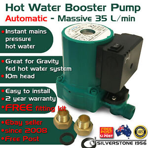 Hot Water Shower AUTOMATIC ON OFF Booster Pump Gravity Fed System 35 L//Min 240 V