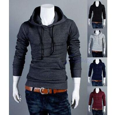 Men's Korean Slim Fit Sexy Top Designed Hoodies Jacket Coats Long Sleeve Sweater