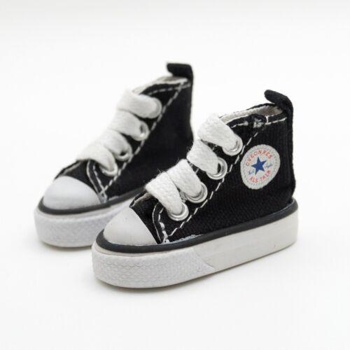 "Black Sports Shoes Canvas Sneakers For 1//6 11/"" 27/"" BJD doll AOD YOSD DOD DK DZ"