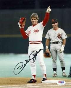 Pete-Rose-Psa-Dna-Coa-Autograph-Reds-8x10-Photo-Hand-Signed-Authentic