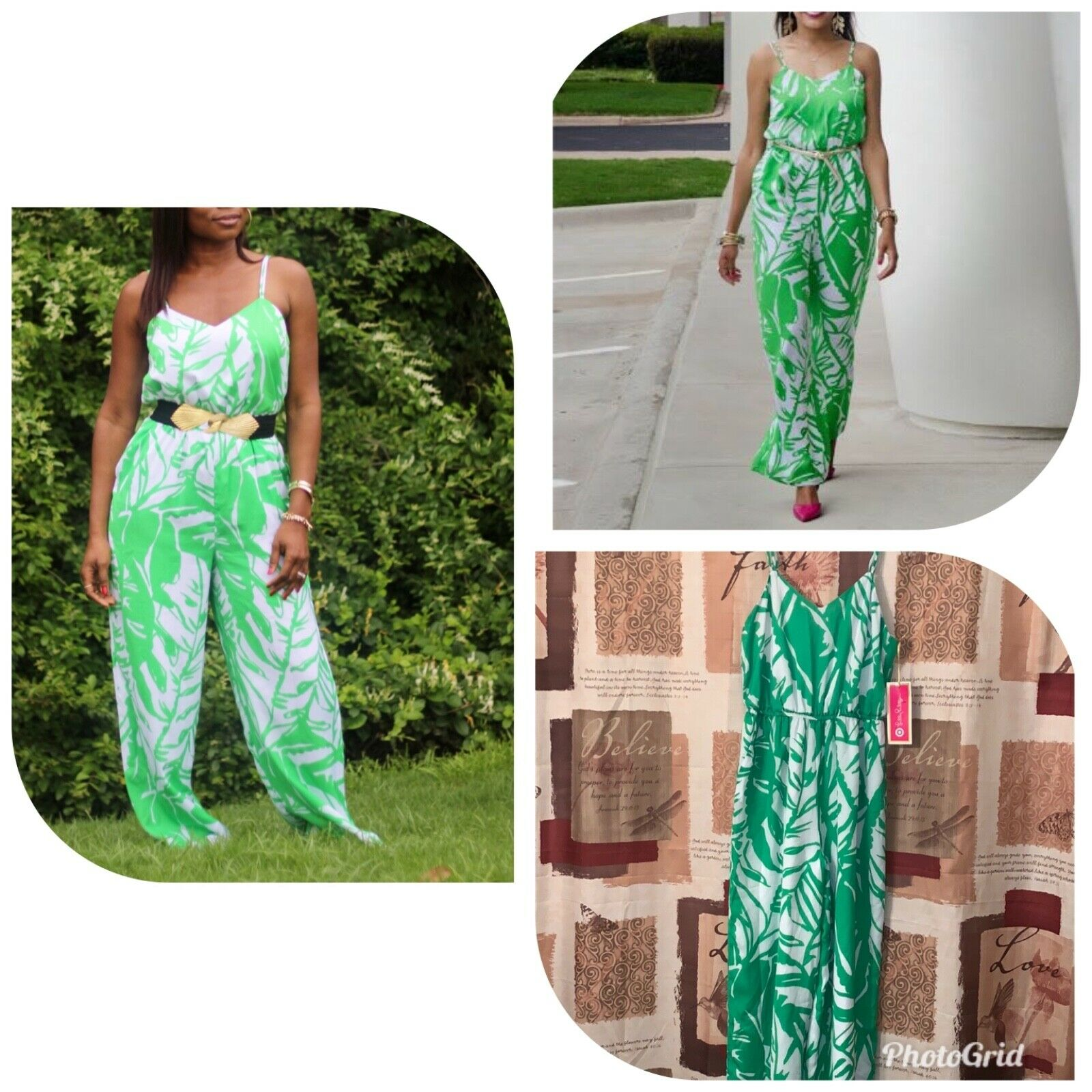 4b90677d3cb9e Lilly Pulitzer for Target Green Leaf Jumpsuit Size Small Palm Women's  nwzukj3681-Jumpsuits & Playsuits