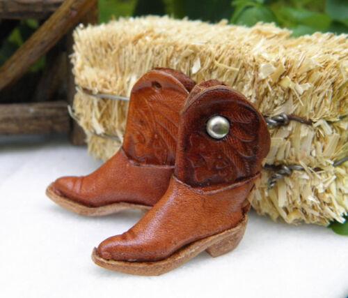 Miniature Dollhouse FAIRY GARDEN Accessories WESTERN Farm Leather Cowboy Boots