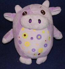 "9"" KellyToy Purple Soft Plush Cow w/ Colored Spots Kelly Toy Stuffed Animal 2012"