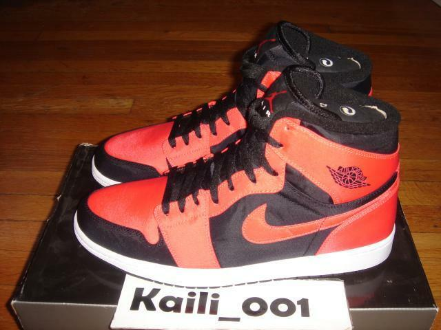 Nike Air Jordan 1 Retro HIGH Size 12 BLACK MAX orange 344613-061 BRED ROYAL B