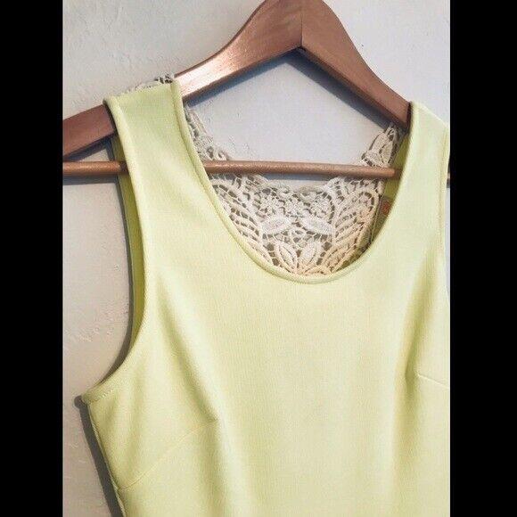 Gianni Bini Bright Yellow Aline Dress. Size Small - image 2