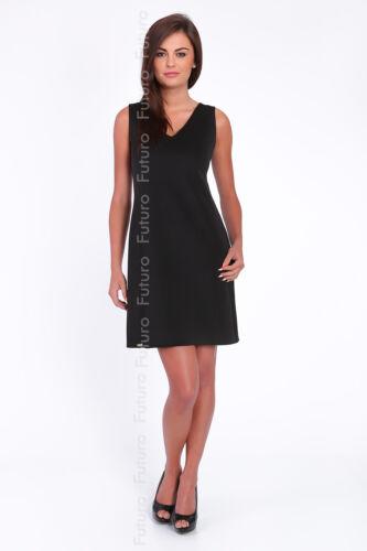 Classic Cocktail Shift Dress Sleeveless V Neck Formal Tunic Sizes 8-14 FA379