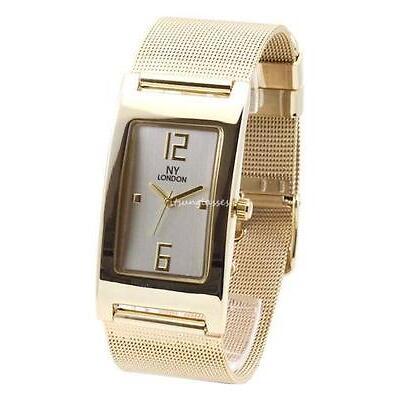 Fashion NY Women's Gold Watch Mesh Steel Band Bracelet Analogue Luxury Dress New