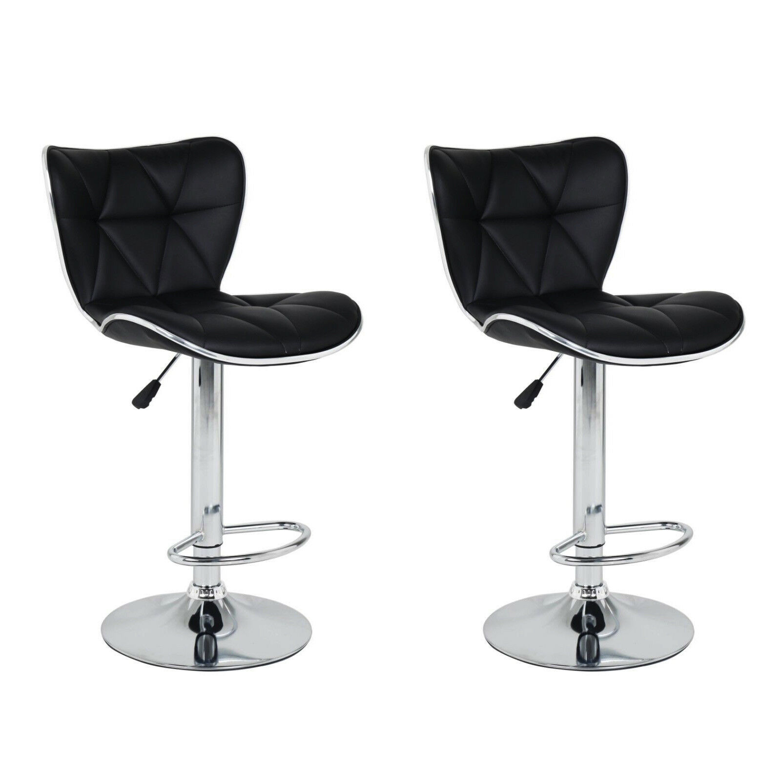 Prime Details About 2X Pair Of Galaxy Bar Stools Faux Leather Barstool Kitchen Stool Breakfast Bar Gamerscity Chair Design For Home Gamerscityorg