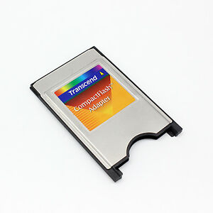 Transcend-PCMCIA-TO-CompactFlash-Card-Adapter-CF-TO-PC-Adapter-Converter-New