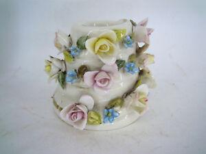 Portacandele in ceramica vintage di capodimonte vpp