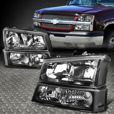 For 03 06 Chevy Silverado Avalanche 1500 3500 Bumper Headlight Lamp Blackclear Fits More Than One Vehicle