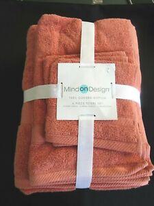 Mind On Design Bathroom 6 Six Piece Towel Set Nwts Ebay