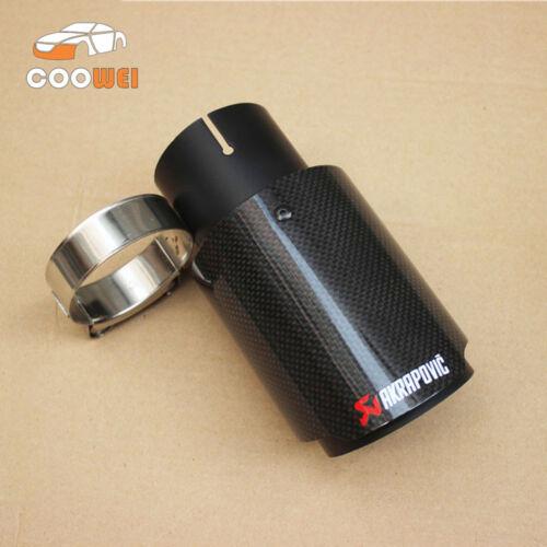 Akrapovic Glossy Carbon Fiber Exhaust Tip 63-89MM Black Universal Muffler Tip