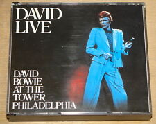 DAVID BOWIE LIVE AT PHILADELPHIA TOWER 2x CD FAT CASE BOX EMI 1990 1ST PRESS