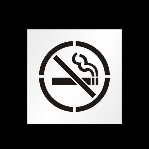 24 No Smoking Symbol Reusable Stencil For Parking Lot Spray