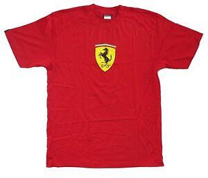 Ferrari-034-Classic-034-SF-Shield-logo-Red-Adult-T-shirt-Brand-New-Official-F1