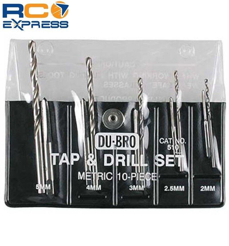 DU-BRO 10pc Metric Tap & Drill Assortetd Metric DUB510