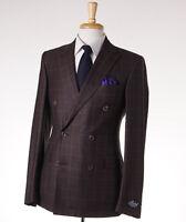 $3495 Belvest Chocolate Brown Check Super 160s Wool Sport Coat 42 R (eu 52) on Sale