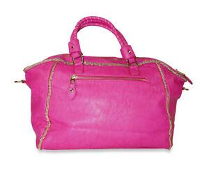Womens-Satchel-Handbag-Purse-Ladies-Duffle-Duffel-Travel-Luggage