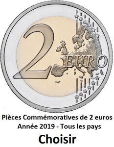 TOUTES LES PAYS DISPONIBLES ANNÉES 2019 - 2 Euros Commemorative - NOUVEAU UNC