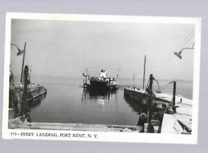 pk30681:Real Photo Postcard-Ferry Landing,Port Kent,New York