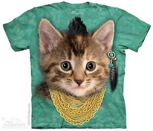 Cute-Cat-with-Bad-Attitude-Shirt-Mountain-Brand-In-Stock-Small-5X-mowhawk