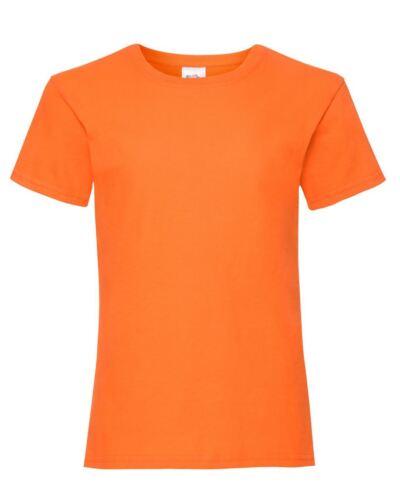Fruit of the Loom Girl/'s Valueweight T-Shirt Top Kids Tee Shirt Plain Cotton