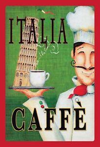 Italia-Caffe-Pisa-Pancarte-en-Tole-Signe-Metal-Voute-Etain-20-X-30-cm-FA0692