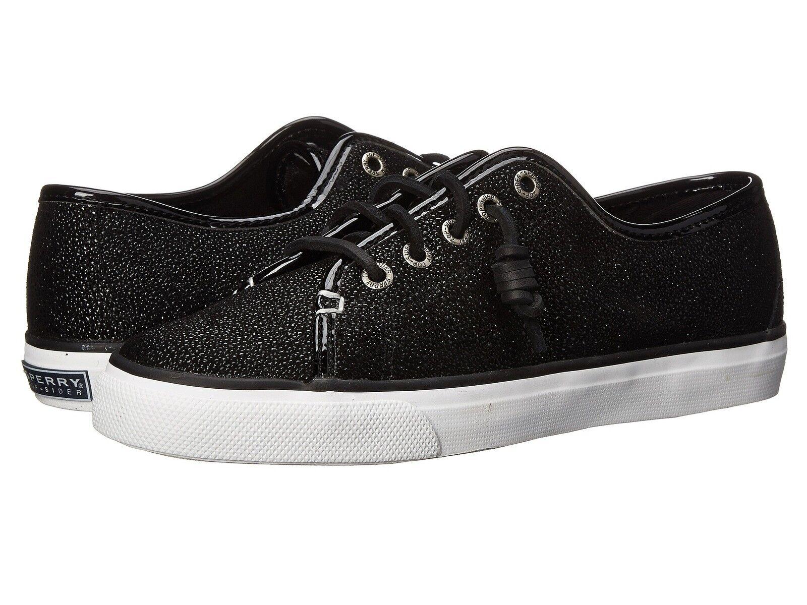 Sperry seacost Cavier Negro Mujeres Lace Lace Lace Up Zapatillas Zapatos Talla 7 M  excelentes precios