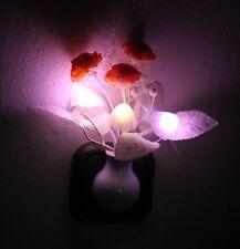 LED Mushroom & Flower Nightlight NEU/OVP Pilz & Blumen Nachtlicht Lichtsensor