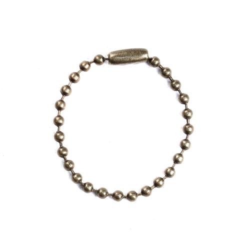 10 Chainette a bille avec fermoir Bronze 2,4mm Chaine maille boule Longueur 10cm