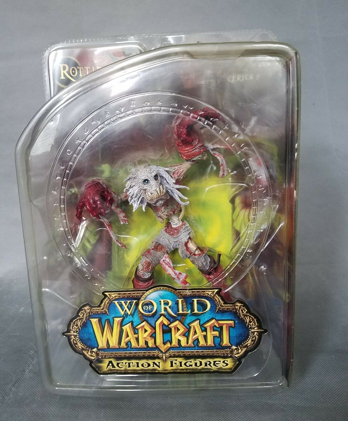 World of Warcraft WOW Series 5 BLOODY Scourge Ghoul Rottingham 7in Figure