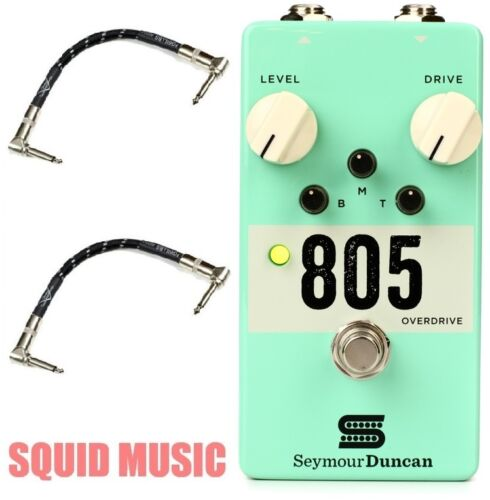 SEYMOUR DUNCAN 805 OVERDRIVE DISTORTION PEDAL 2 FENDER GUITAR PATCH CABLE