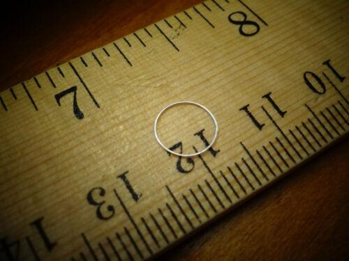 2 Nose Ring Earrings 14k Y/&W SOLID GOLD Hoop 30 gauge Tragus Helix Cartilage