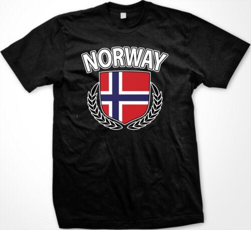 Norway Norwegian Norge Flag Crest Olive Branch Regal New Men/'s T-shirt