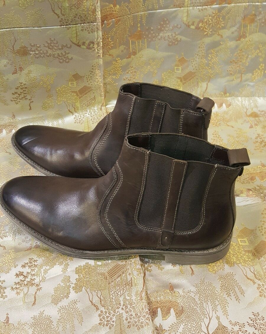 Stacy Adams size 10. M  Uomo Carnaby Boot Brown Oiled Pull-Up Pelle 24908-200