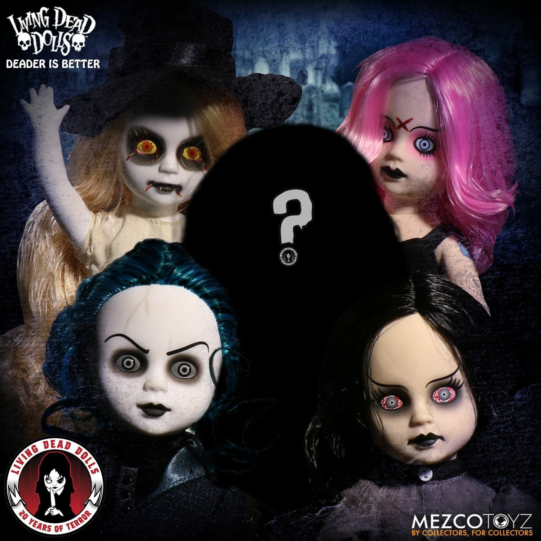 Mezco Living Dead Puppen 20th Anniversary Set mit 5 Beinhaltet Mystery Puppe