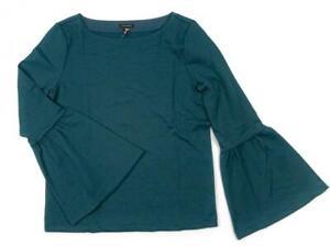 ANN-TAYLOR-Flare-Sleeve-Knit-Top-Teal